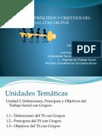 Unidad I Temas 1 2 y 3 Definición Principios y Objetivos Del TS Grupos