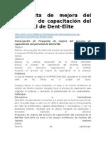 Propuesta de Mejora Del Proceso de Capacitación Del Personal de Dent
