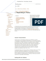 Responding to Theory