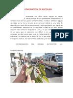 Contaminacion en Arequipa y Datos Estadisticos