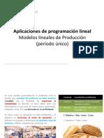 Modelos de Producción y Mezclas