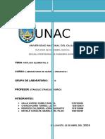 Analisis Elemental II Organica 1