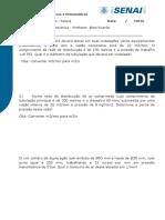 1º LISTA DE EXERCICIOS DIMENSIONAMENTO DE REDES - Recuperação.doc