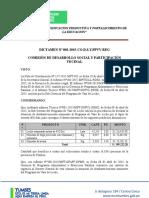 Dictamen de CDSPC - Vaso de Leche