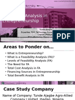 Eds411 - Feasibility Study of Entrepreneurship Venture