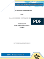 Evidencia 9 Condiciones Comerciales de Negociacion Sena Cesar