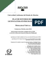 PLAN ESTUDIOS PSICOLOGIA 2014 Modalidad Virtual Final 5 Anexo