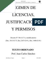 Regimen de Licencias