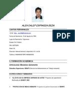 CV Alex Espinoza - Mecanico Pesado