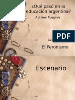 Elperonismoylaeducacin a Puigros