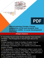Mainstreaming CCA and DRR in LDP2