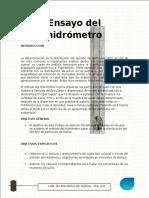 informe 6 de hidrometro