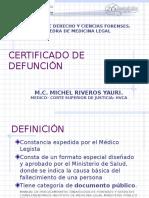 Certificado de Defuncion- Perú