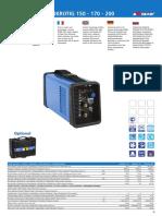 Awelco Euro Arc 170 Spec Sheet