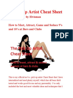 A Pickup Artist Cheat Sheet (PUA)
