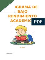Programa de Bajo Rendimiento Academico