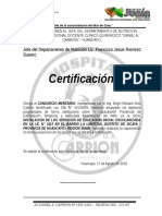Certificacion Empresa Mercurio