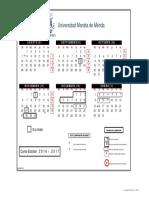 Calendario Agosto2016 Enero 2017 Licenciaturas
