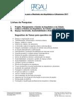 Temas Redação Bibliografia Seleção de Mestrado 2017 Uff