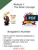 Module 1 - Topic 3 Lecture 1 (the Mole Concept)