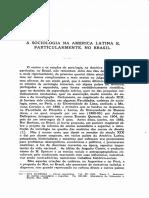 1950 - Fernando de Azevedo a Sociologia Na América Latina, e Particularmente, No Brasil