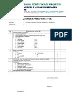 Form Verifikasi Tuk SKEMA 1