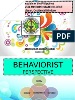 Behaviorist Perspective