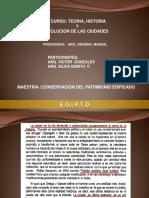 Presentacion Egipto Historia y Evolucion Urbana