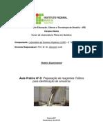 8- Prática N° 8 - Preparação de reagentes Tollens para identificação de amostras