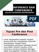 Pre Conference Dan Post Conference