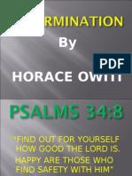 Determination-Power point Horace