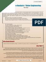 Value Engineering Info Sheet