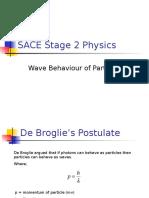 4. Wave Behaviour of Particles