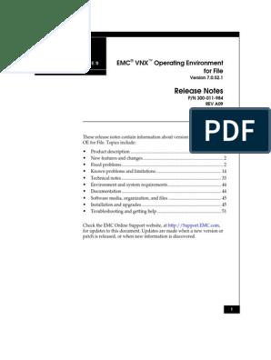 Docu39363 VNX Operating Environment for File 7 0 52 1 | Web