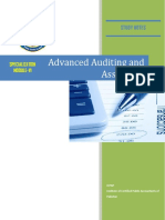 Advance Auditing and Assurance