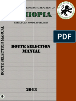Route Selection Manual 2013