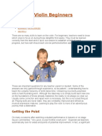 Teaching Violin Beginners
