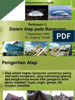 Kuliah 3 - Sistem Atap Pada Bangunan