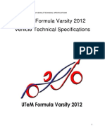 UTeM Formula Varsity 2012 Vehicle Technical Specifications