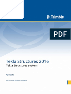 Tekla Structures system pdf | Computer File | Directory (Computing)