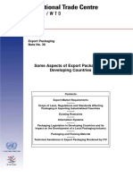 Some Aspects of Export Packaging in Developing Countries - Unctad, Wto