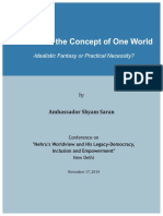 Nehru and the Concept of One World _Final