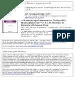 Silva, Silva & Martins (2014) Neuropsychology in DD