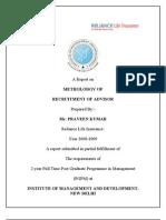 Recruitment of Advisor in RLIC
