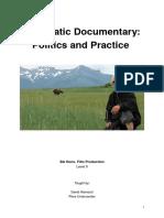 Cinematic Documentary- Handout