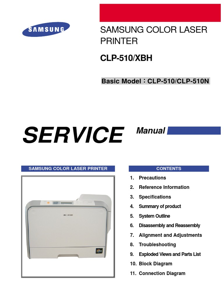 Samsung CLP-510 Series - Service Manual | Electrostatic Discharge | Ac  Power Plugs And Sockets