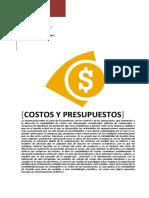 Costos y Presupeustos
