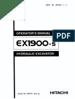 EX1900-5 Operators Manual