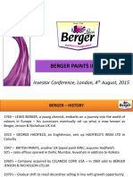 Investor Conference London 04-08-2015