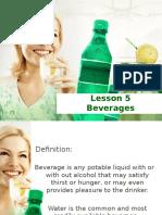 6. Lesson 5 - Beverages